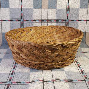 Other - Braided Woven Wicker Basket Bowl Boho Farmhouse
